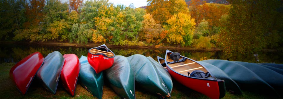 Canoes by the Upper James River Water Trail