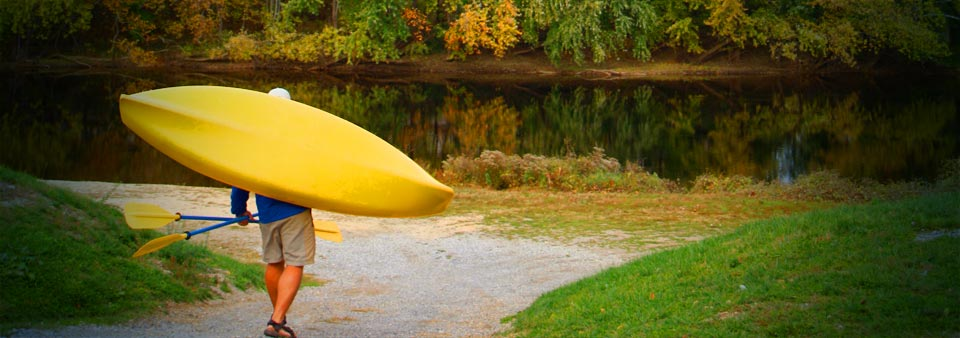 Getting ready to kayak the Upper James