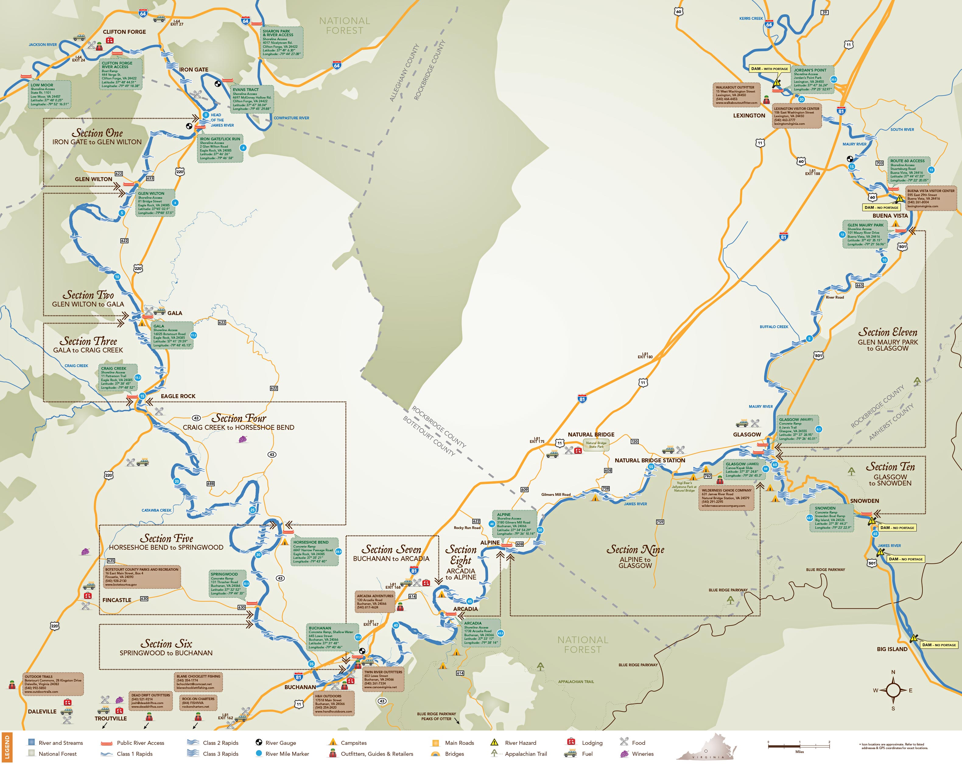 Maps - Upper James River Water Trail